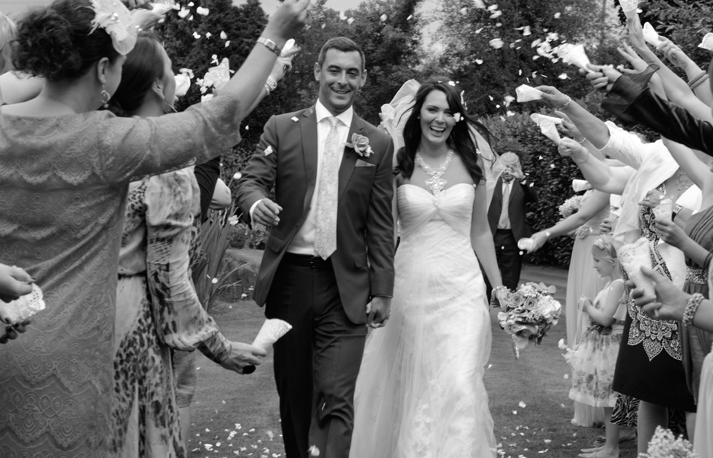 wedding confetti by Birmingham wedding photographer Paul Ward